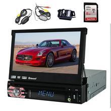 """Беспроводной резервного копирования Камера + eincar в тире 1 DIN 7 """"Радио сенсорный экран автомобиля DVD/CD/ USB/SD/MP4/MP3-плееры GPS навигации Bluetooth"""