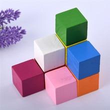 """5 шт./компл. и с принтом «Разноцветные блоки игрушки """"Сделай своими руками"""" деревянный укладки до строительные блоки квадратные кубики для малышей и детей постарше для штабелирования стек Обучающие"""