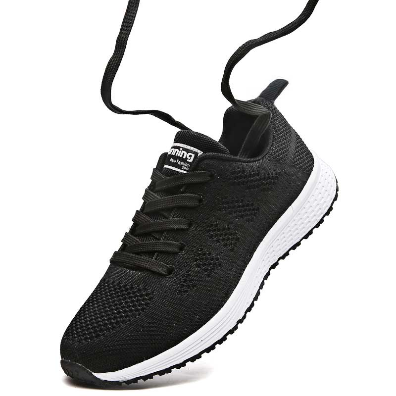 Fashion Casual Sneakers Lightweight Shoes Women White Sneakers Flat Shoes Trainers Summer Air Mesh Basket Femme Ladies Tenis wolf who women winter shoes fur wedge fashion sneakers women hidden heels basket femme tenis femininos casual h 152