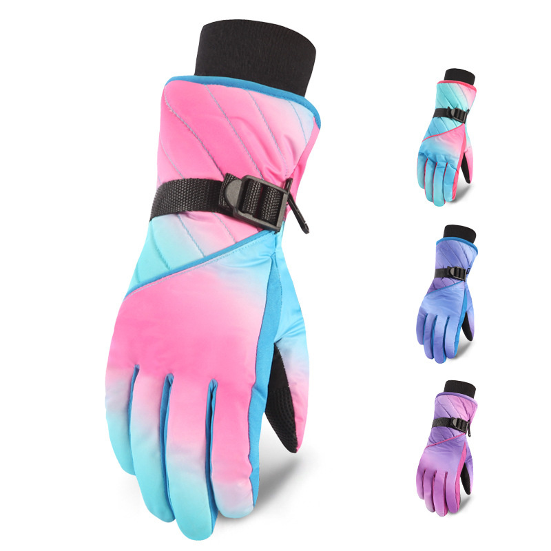 Winter  Skiing Gloves Warm Waterproof Snow Gloves Women Snowboard Gloves