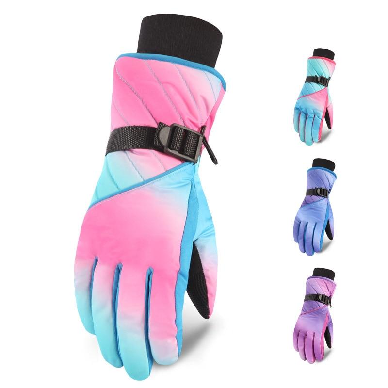 Winter  Skiing Gloves Warm Waterproof Snow Gloves Women Snowboard Gloves