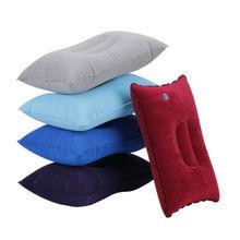 Надувная воздушная дорожная ПВХ подушка самолет Шея подушка для подбородка офиса для сна, отдыха 5 цветов