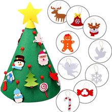 3D DIY Felt Toddler Christmas Tree New Year Kids Gifts Toys Playtime Kids Tree Felt Christmas Tree