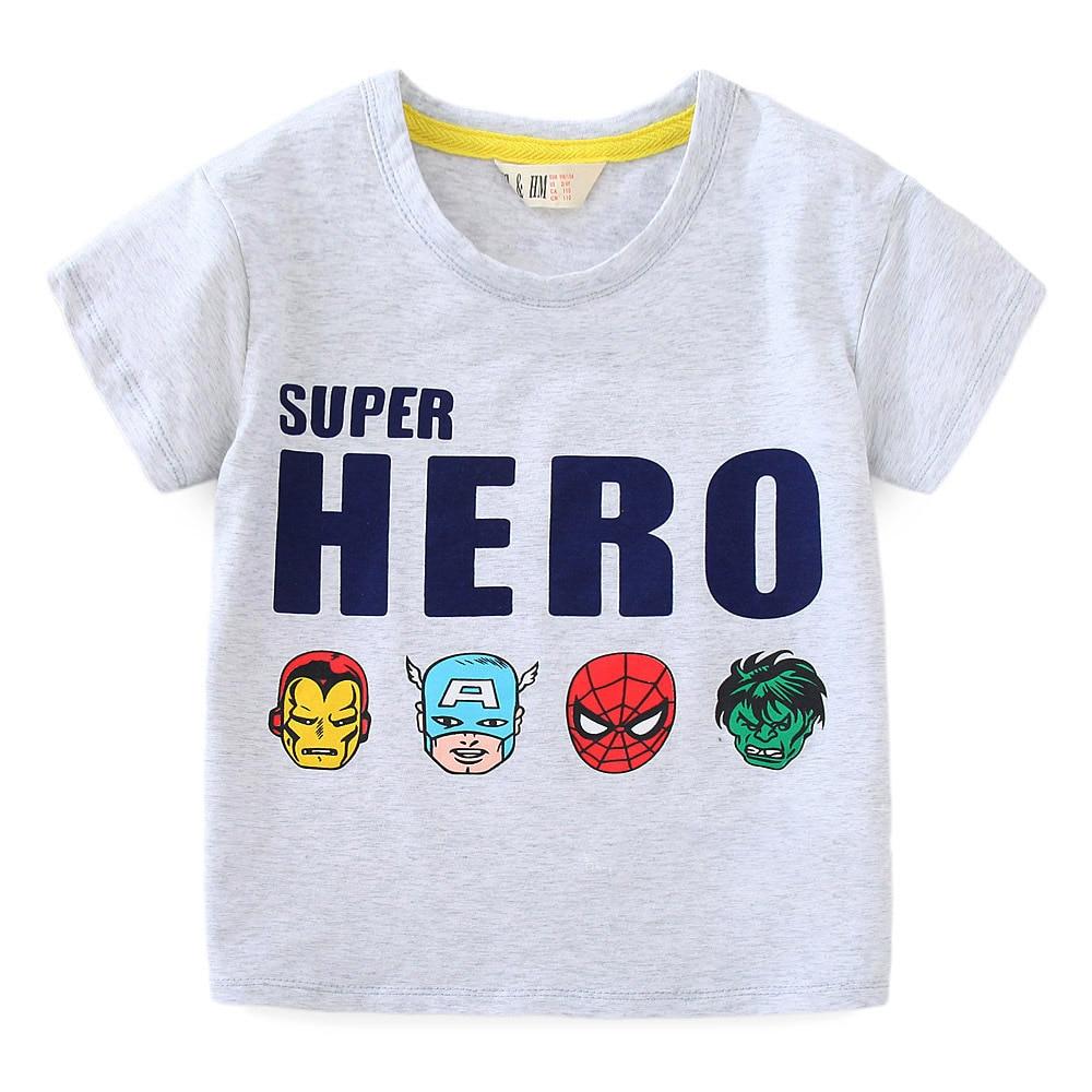 Boys kids T shirt children clothes girls tshirt cartoon super hero printed summer 2019 boys t shirt cotton baby girls clothes in T Shirts from Mother Kids