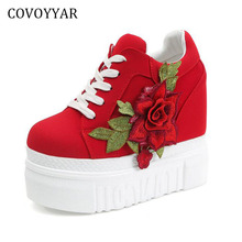 COVOYYAR Flowers Women Casual Shoes 2019