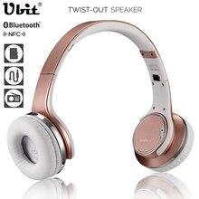 Ubit MH1 NFC носимых Bluetooth Динамик твист-в наушники гарнитуры 2in1 Magic Беспроводной Колонки с микрофоном fm Радио/ AUX/TF