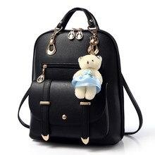2016 Casual Women Backpack leather kanken backpack Mochila feminina Mochila mujer White Black school Bagpack Rucksacks for girls