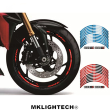 Motorcycle GSXS Fit For SUZUKI GSXS1000 GSXS1000F 12 X Thick Edge Outer Rim Sticker Stripe Wheel Decals