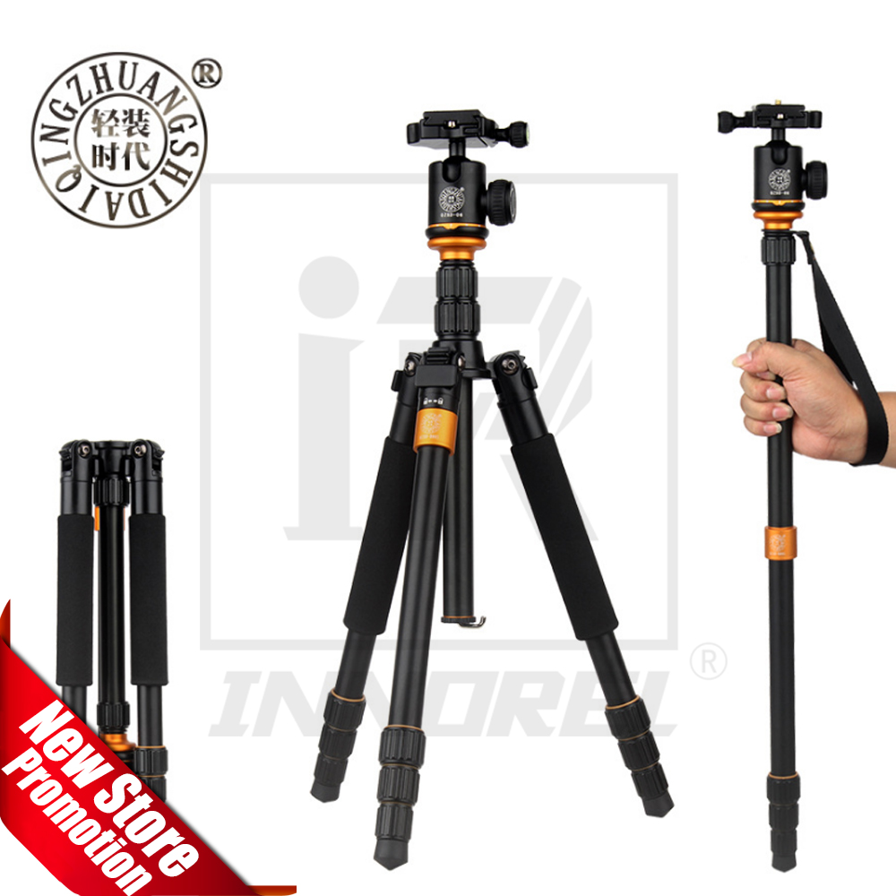Aluminium Alloy Beike QZSD Q999S Professional Photographic Portable Tripod Kit Monopod Ball head For Travel DSLR Camera aluminium alloy professional camera tripod flexible dslr video monopod for photography with head suitable for 65mm bowl size