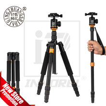 Aluminium Alloy Beike QZSD Q999S Professional Photographic Portable Tripod Kit Monopod Ball head For Travel DSLR Camera(China)