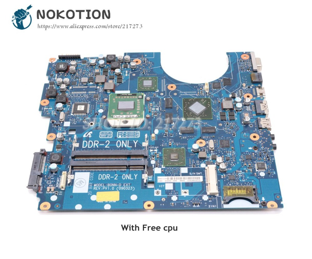 NOKOTION For Samsung NP-R515 R515 Laptop Motherboard DDR2 Free cpu BA92-05600A BA92-05600B BA41-01072A BA41-01073A BA41-01074A notebook motherboard for samsung np550 np550p5c n13p gt a2 gt650m ba92 09094a ba41 01898a tested ok free shipping