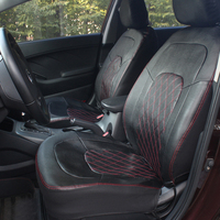 Breathable PU Leather Front Car Seat Covers 2pcs Universal Fit Car Interior Accessories Summer Winter Type