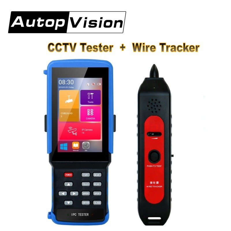5 In 1 Wifi 4.3''Touchscreen CCTV Tester With Wire Tracker For IPC/Analog Camera,IPC 1080P, AHD,CVI,TVI,BNC Network Cable Tester