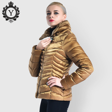 цены Down Cotton Padded Jacket Winter Plus Size Women Parka Short Warm Quilted Jacket Stand Collar Outwear Parkas 2019 COUTUDI Newest