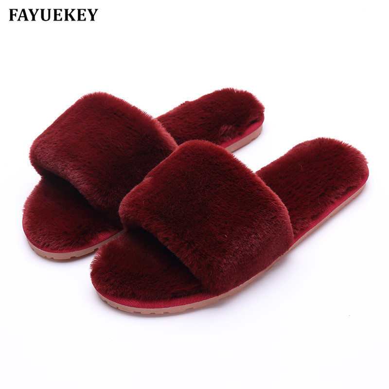FAYUEKEY 2018 New Fashion Spring Winter 7 Colors Home Cotton Plush Slippers Women Indoor\ Floor Open-toed  Flat Shoes Girls Gift vanled 2017 new fashion spring summer autumn 5 colors home plush slippers women indoor floor flat shoes free shipping