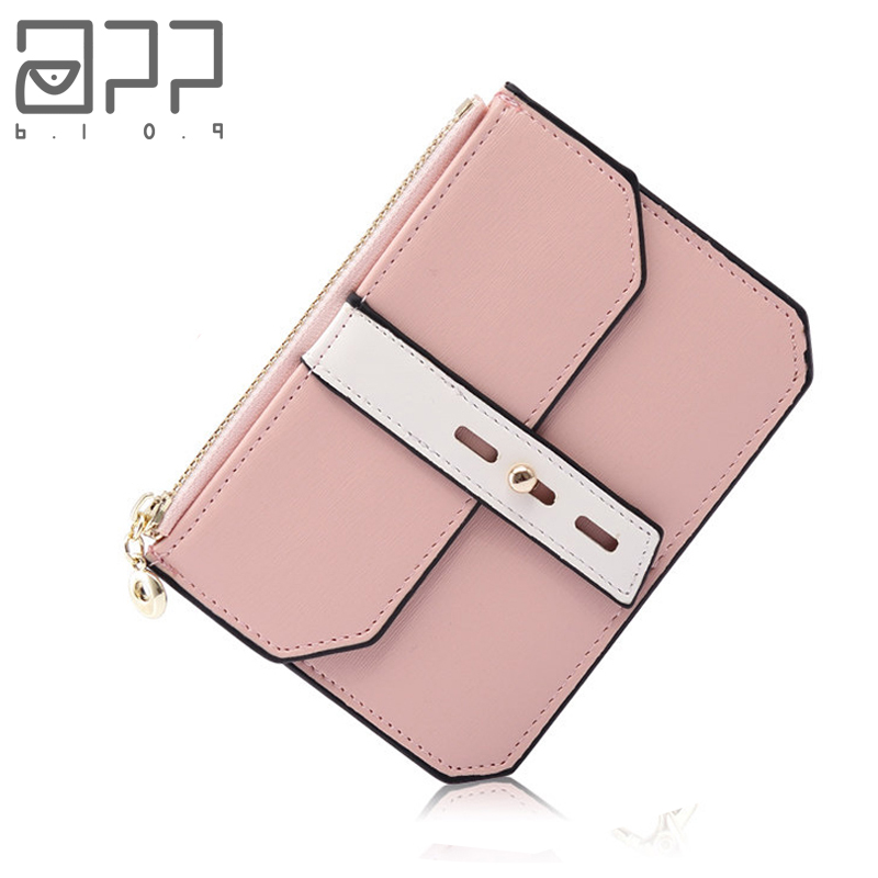 APP BLOG Brand Women Girl Teenagers Double Coin Purses Holders Leather Zipper Clutch Wallet Female Tassel Pendant Money Wallets app blog brand women lingge wallet latest high capacity leather buckle clutch tirfold tassel soft purse carteira feminina mujer