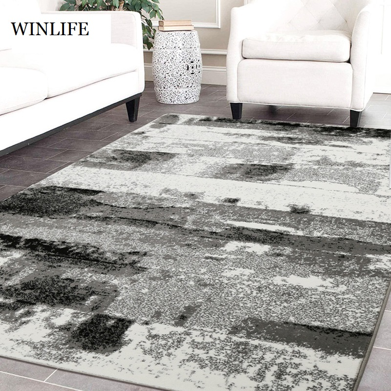 WINLIFE Chinese Ink Painting Style Rugs Simple Soft Living Room Bedroom Carpets Anti Skid Kid Crawling