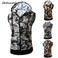 New Brand Clothing Camouflage Printing Bodybuilding Fitness Men Gyms Tank Top Green Vest Stringer Sportswear Hoodies