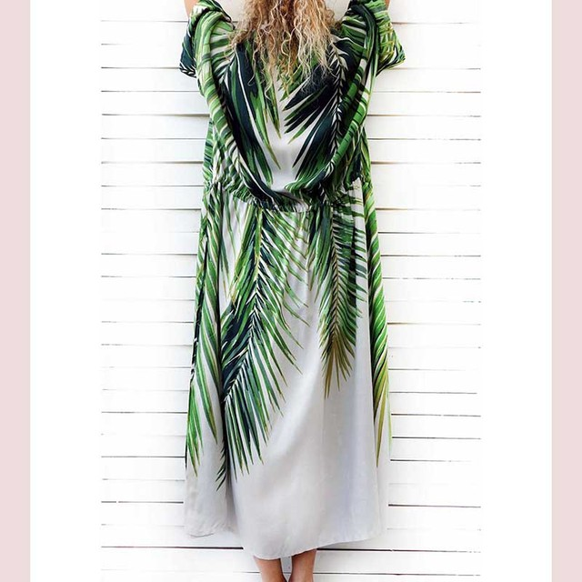 Tropical Kaftan Beach Dress