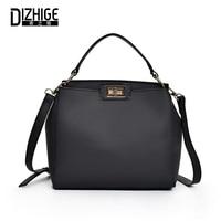 DIZHIGE Brand PU Leather High Quality Women S Handbags Luxury Ladies Shoulder Bag Designer Solid Tote