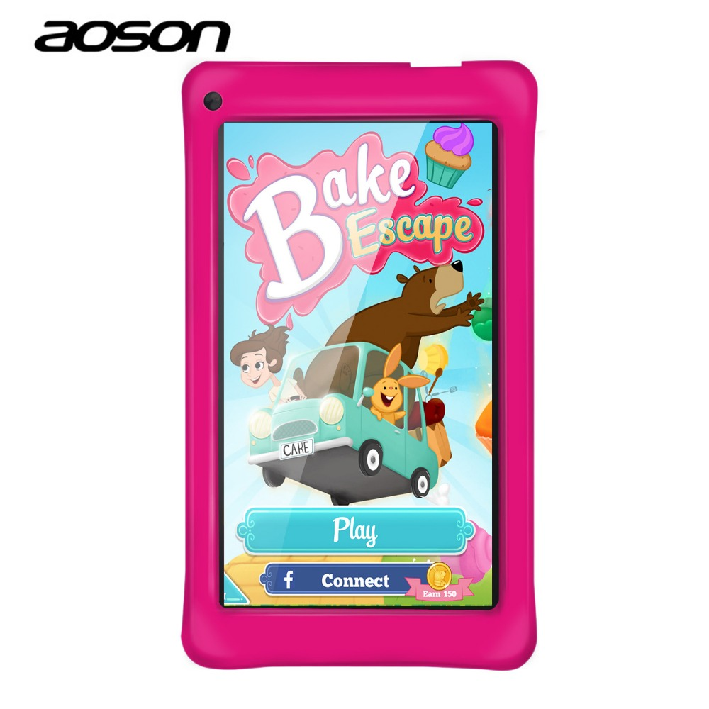 Aoson M751 7 inch Kids Tablets PC 8GB+1GB Android 5.1 Quad Core Education Tablet Dual Cameras WIFI Google Store Best gift new arrival 7 inch tablet pc aoson m751 8gb 1gb 1024 600 android 5 1 quad core dual cameras bluetooth multi languages pc tablets