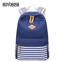 HOYOBISH Brand Canvas Men Women Backpack Schoolbags For Teenager Boy Girls School Bag Women S Backpack