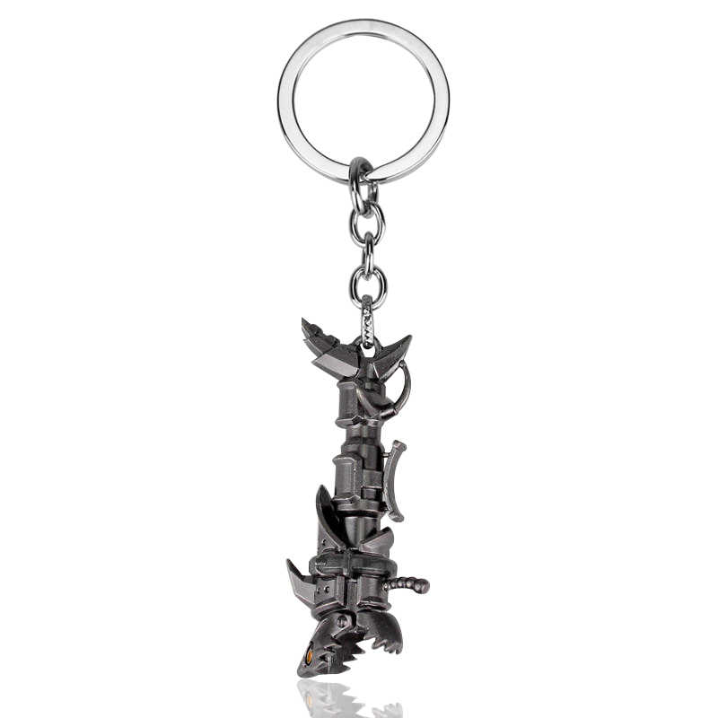 Hot Game LOL Weapon Key Chains Holder Fashion League Of LOL Jinx Delevan Tryndamere Legends Weapon Keychain Keyrings Jewelry