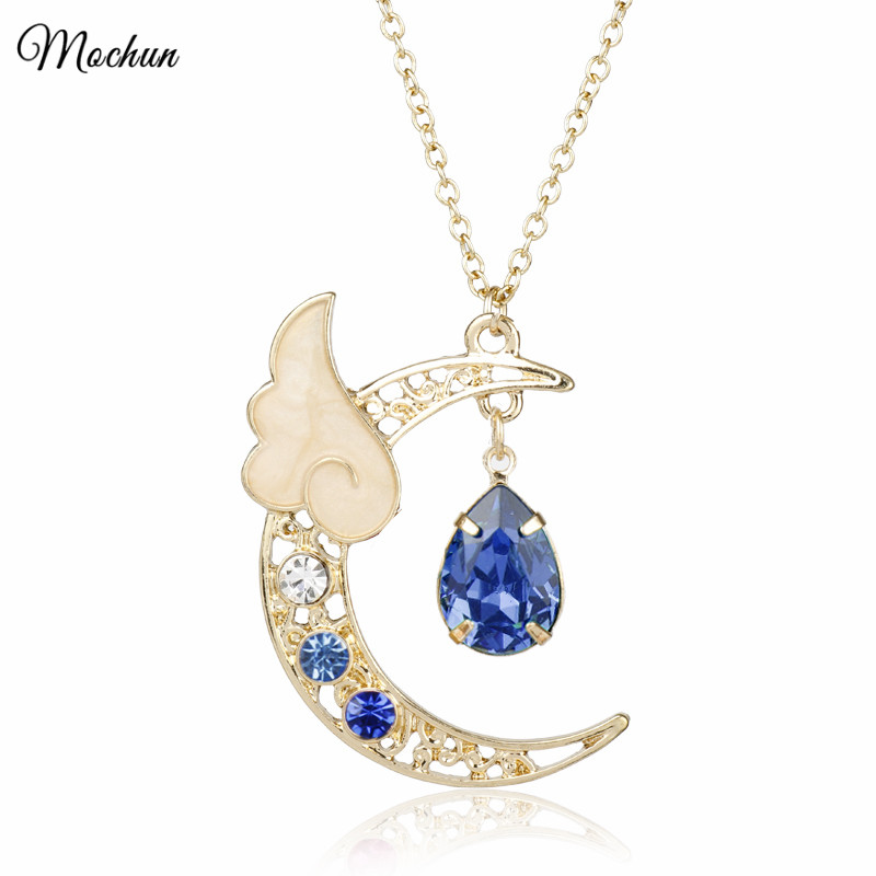 MQCHUN 2018 Fashion Women Necklace Romantic Series Sailor Moon Wing Charm Pendant Hot Anime Cosplay Cardcaptor Sakura Jewelry|fashion jewelry|jewelry fashionfashion necklace - AliExpress