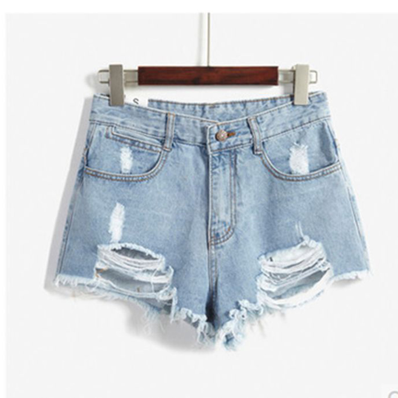 TITIVATE New Ripped Women's Jeans Shorts Summer Sexy Hole High Waist Loose Denim Shorts Washes Fashion Hot Shorts Plus Size