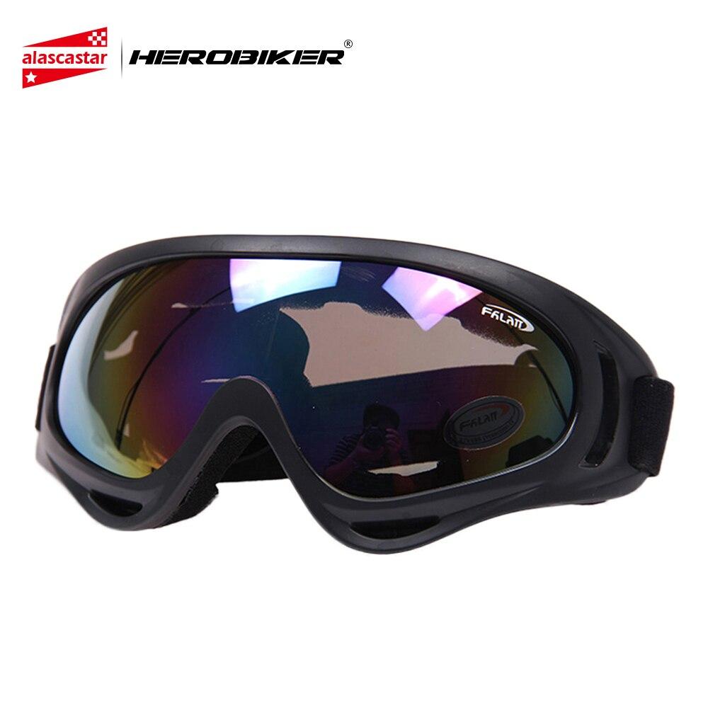 HEROBIKER Motorcycle Goggles Motocross Dirt Bike Off-Road Ski Snowboard Cycling Airsoft Windproof Moto Glasses Eyewear X400