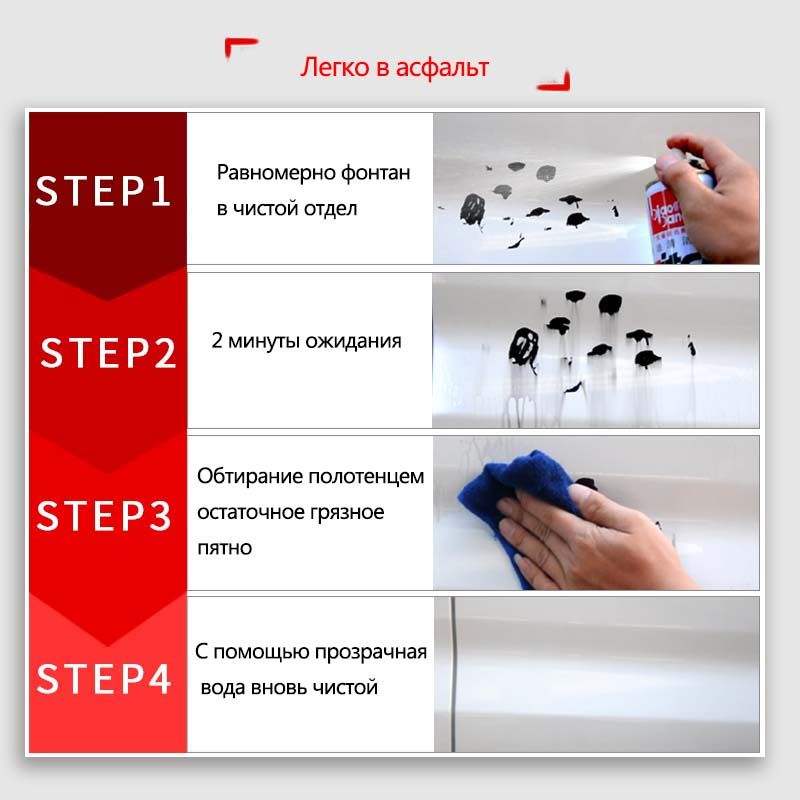 Paint care asphalt cleaning agent car clean & wash&Maintenance car body paint stickers to remove glue tar Insect, Spot Rust 1pc