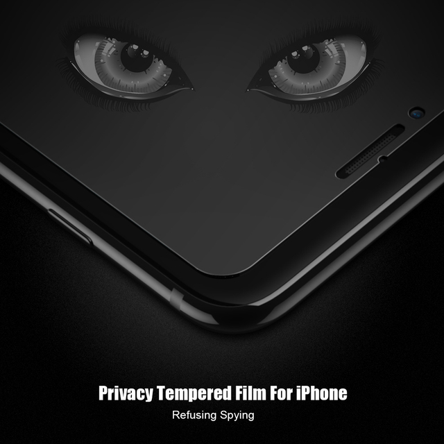 Anti Spy Tempered Glass For iPhone 5s 6 7 6s Plus