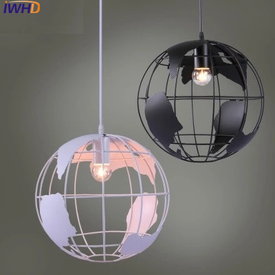 Nordic Pendant Lights For Home Lighting Modern Hanging Lamp Iron Earth Shap Lampshade LED Bulb Bedroom Kitchen Light 220V E27 цена 2017