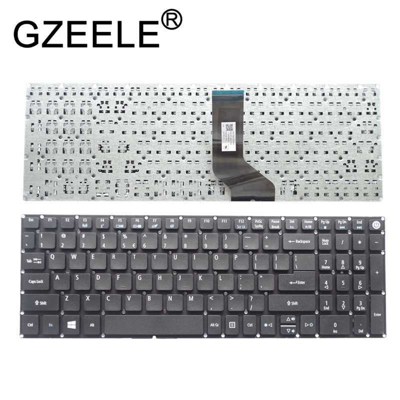 GZEELE For Acer Aspire E5-532 E5-522 E5-573 E5-574 E5-722 E5-752 E5-772 E5-773 E5-575 V5-591G Keyboard English US Without Frame