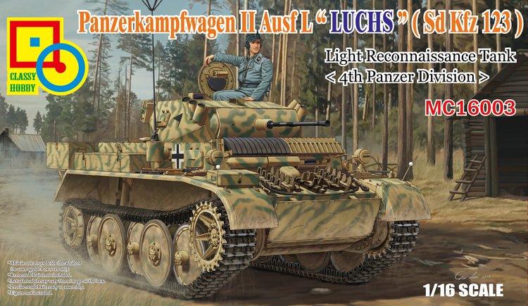 Classy Hobby MC16003 1/16 Panzerkampfwagen II Ausf L 'Luchs' (Sd.Kfz123)