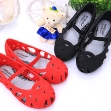 2019 New Mini girls Shoes Crystal Jelly Sandals Children Hollow Toddler Girls kids princess