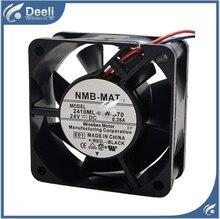 new good working refrigerator cooling fan 6025 2410ML-04W-B69 12V 0.40A three lines IPC cooling fan  6*6*2.4CM
