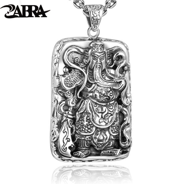 Zabra 925 sterling silver pendants for men guan yu hero good pray zabra 925 sterling silver pendants for men guan yu hero good pray necklace guys buddha pendant aloadofball Images