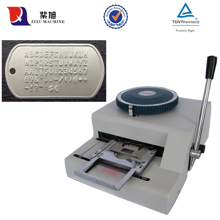 Small Manual Dog Tags Metal Embossing Machine For Aluminum;Braille Machine rosenfelt d dog tags