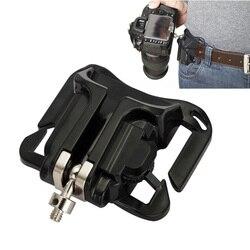 1Pc Camera Waist Belt Buckle Camera Quick Belt Buckle Holster Waist Mount Hanger Clip for Canon for Nikon for Sony Black  #2 2