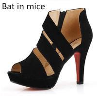 Bat em ratos a Europa e os Estados Unidos moda peixe cabeça sapatos boate sexy de salto alto sapatos vazias sandálias de verão sapatos