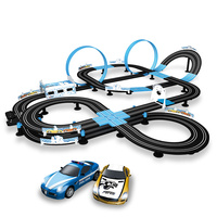 Remote Control Electric Starter Track Racing Car Parent Child Interaction 1:64 Racing Track Toy Children's Toy Car