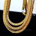 Alta calidad 100% 24 K chapado en Oro de 90 cm de Largo Cuban Link cadena collar Llamativo cadena franco Joven Jeez Jay-z hiphop hombres joyería