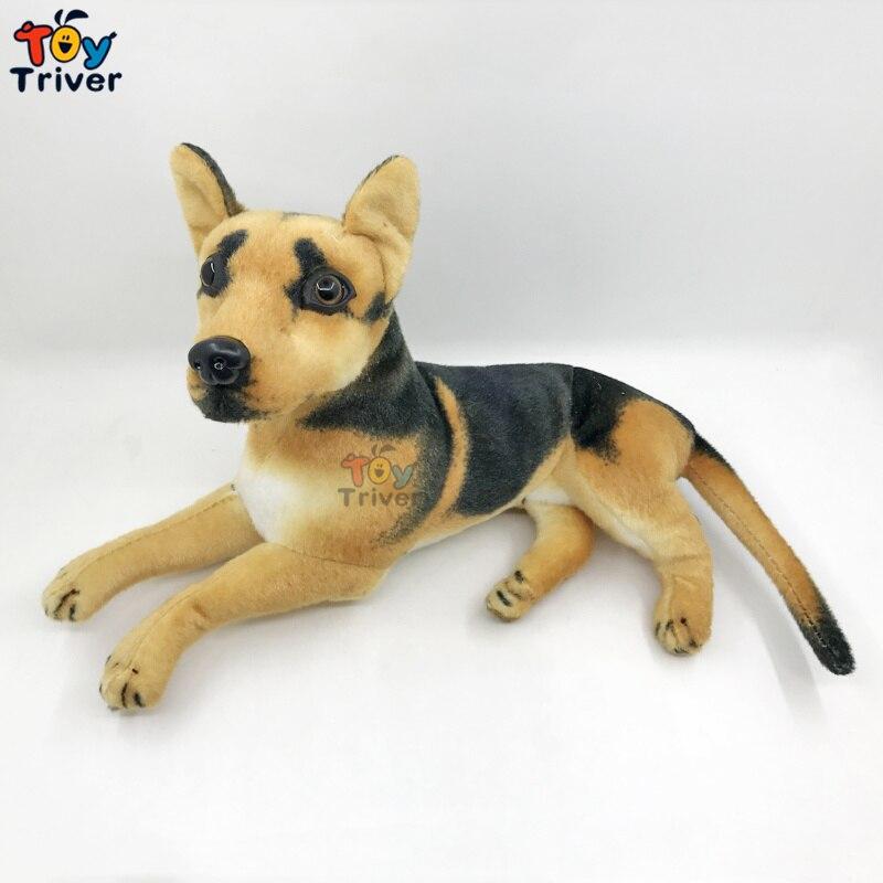 Shepherd Dog Filhote de Cachorro de pelúcia Bichos de pelúcia Boneca Modelo de Simulação Cães Bebê Crianças Crianças Presente de Aniversário Para Casa Loja de Decoração Triver