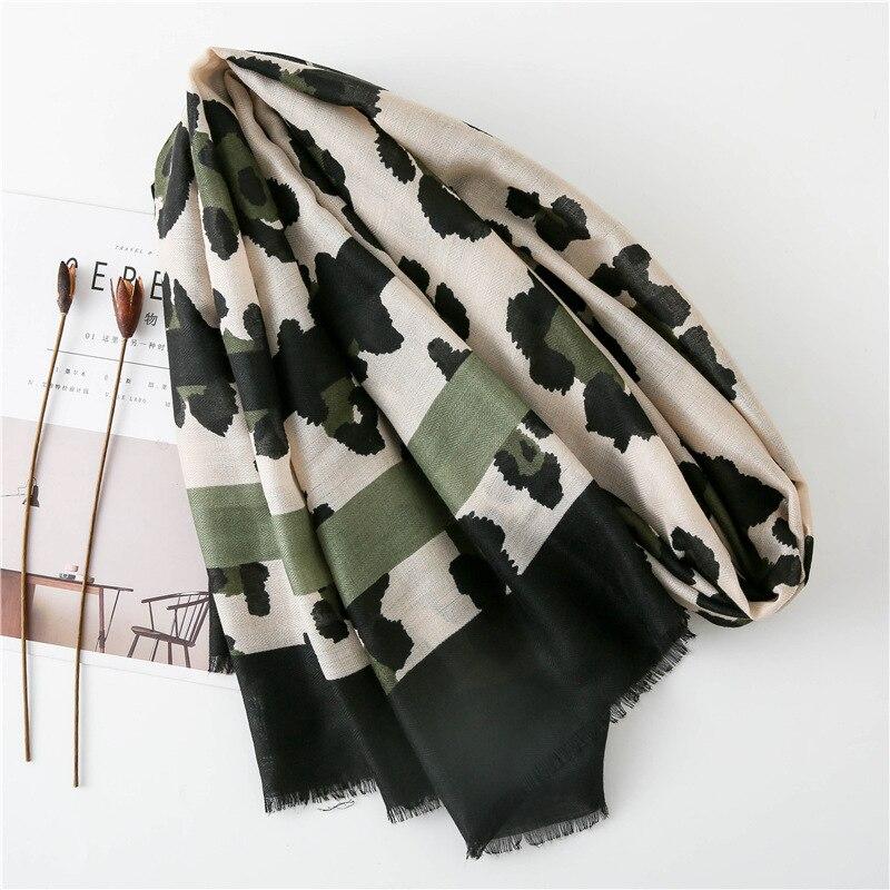 Image 4 - Women Fashion Sexy Leopard Dot Fringes Viscose Shawl Scarf Autumn  Winter Wraps and Scarves Pashmina Foulards Stole Muslim HijabWomens  Scarves