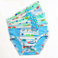 10PCS/LOT Free shipping Kids Cute Cartoon Car Styling Panties Children Soft Bamboo Fiber Briefs Baby boys Fashion Underwear