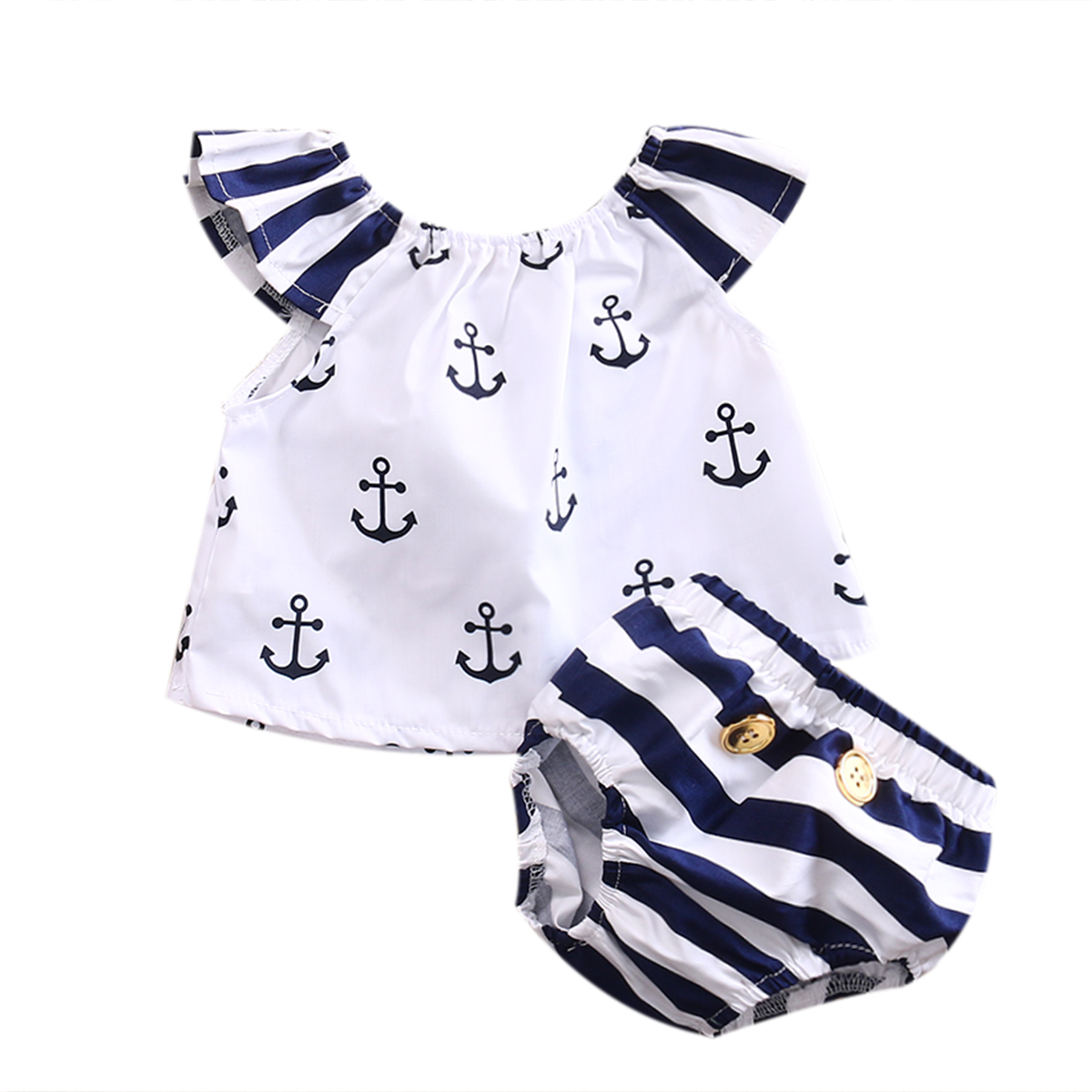 2PCS Newborn Toddler Infant Baby Kid Girls Striped T-shirt Tops+Pants Bottom Outfits Set Cotton Clothes new 2 pcs newborn toddler infant baby boys girls clothes set t shirt tops pants outfits s01