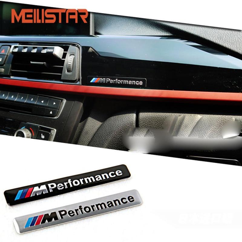M Performance Motorsport Metal Logo Car Sticker Aluminum Emblem Grill Badge for BMW E34 E36 E39 E53 E60 E90 F10 F30 M3 M5 M6 for bmw 5 series e12 e28 e34 e39 e60 e61 f10 f11 f07 523i 528i 525i chrome number letters rear trunk emblem badge sticker