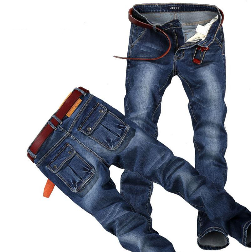2017 New High quality man Jeans Men Pants straight Cotton Male Denim Brand Jeans More pocket