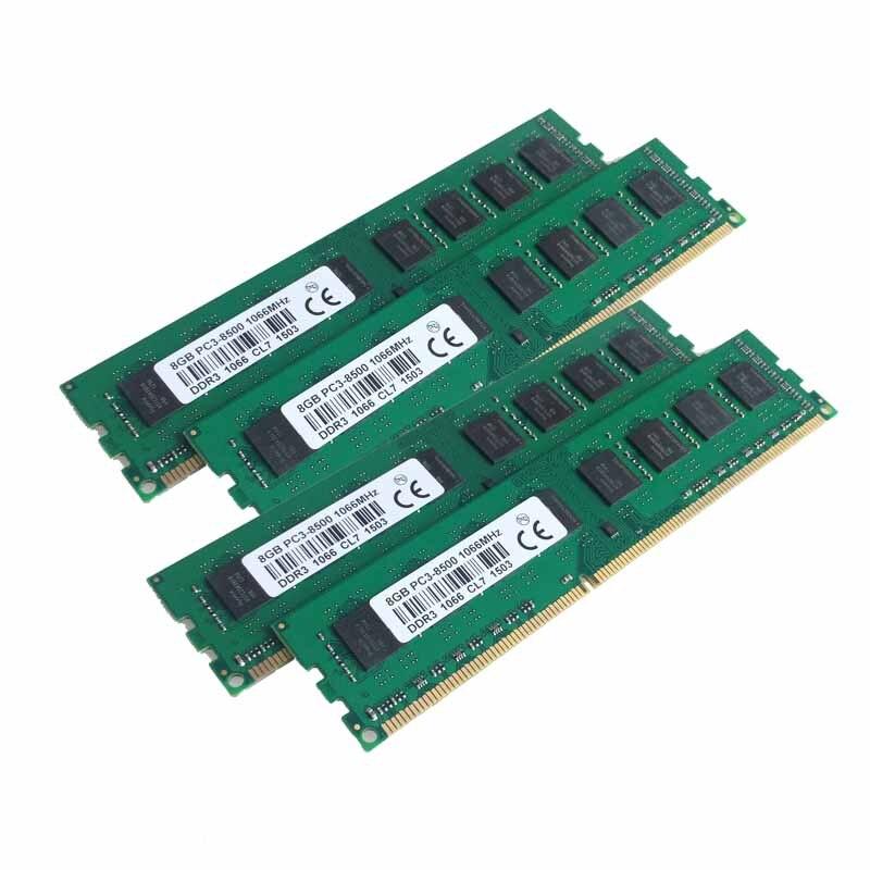 все цены на  New 4x8GB DDR3  PC3-8500 1066MHZ  Desktop memory  For  AMD Intel Desktop Ram Memory 8G 1066MHZ  онлайн